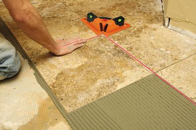 Using The Tile Laser Level For Angled Tiles