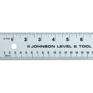 "24"" to 72"" English/Metric Heavy Duty Straight Edge"