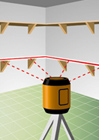 Rotary Laser Level shooting line for shelving around a room