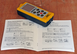 The Johnson Level 40-6005 Laser Distance Measure comes with an instruction manual that allows the user to easily understand all the functions their new tool can perform.