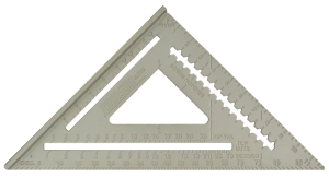 Johnson Level /& Tool 1941-0700 7-Inch Johnny Square Professional Aluminum Rafter Square