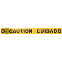 caution cuidado tape image